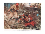 One Stephenson...Bade Him Stand Up and Fight Like a Man, Illustration from  Giclee Print by A.D. McClintock