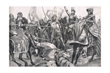 The Last Stand by John II France at the Battle of Poitiers, Illustration Form 'British Battles on… Giclee Print by Richard Caton Woodville II