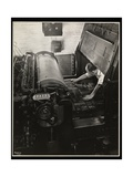 Working at a Meihle Press at Unz and Co., 24 Beaver Street, New York, 1932 Giclee Print by  Byron Company