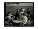 Children Playing in the Playroom at the New York Association for the Blind, 111 East 59th Street,… Giclee Print by  Byron Company