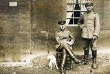 German Soldiers with a Dog, 1914-18 Photographic Print by  German photographer