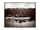 "View of the Yacht ""Coronet"" of the New York Yacht, Launch and Engine Co. on the Harlem River, New… Giclee Print by  Byron Company"