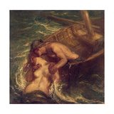 The Fisherman and the Mermaid, 1901-03 Giclee Print by Charles Haslewood Shannon