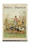 Hounds Feeding, from the Cover of 'Soleil Du Dimanche', 25th of November 1900 Giclee Print by Charles Fernand de Condamy