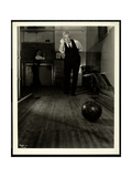 Blind Man Bowling at the New York Association for the Blind, 111 East 59th Street, 1921 Giclee Print by  Byron Company