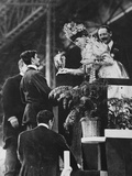 Queen Alexandra Handing a Special Cup to Dorando to Commemorate His Great Effort to Win the… Photographic Print by Thomas E. & Horace Grant