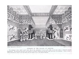 Interior of the Palace of Nineveh, Illustration from 'Hutchinson's History of the Nations' Giclee Print by Sir Austen Henry Layard