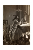 Mabel Taliaferro Working on a Sculpture in Her Studio, New York, c.1916 Giclee Print by  Byron Company