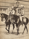 King George V and Kaiser Wilhelm II Leaving Potsdam to Attend a Review of the Troops in 1913,… Photographic Print by  English Photographer