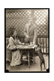 Julie Opp and William Faversham with their Boston Terrier, 1914 Giclee Print by  Byron Company