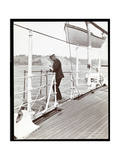 Rear Admiral Robley Dunglison Evans on the Deck of the U.S.S. Maine, 1906 Giclee Print by  Byron Company