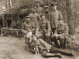 Group of German Soldiers with a Dog, 1914-18 Photographic Print by  German photographer