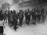 Triumphant Entry into Constantinople by Young Turk Soldiers, May, 1909 Photographic Print by Thomas E. & Horace Grant