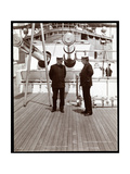 Rear Admiral Robley Dunglison Evans and Captain John Elliott Pillsbury on the Deck of the U.S.S.… Giclee Print by  Byron Company