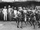 Girls from the Bundu Tribe Dancing before the Prince, Freetown, Sierra Leone, 1925 Photographic Print by Thomas E. & Horace Grant
