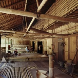 Community Gallery Space Inside a Bidayuh Longhouse Photographic Print