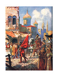 Return of Ivan the Terrible to Moscow, Illustration from 'Hutchinson's History of Nations' Giclee Print by John Harris Valda