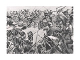 The Charge of the Hussars at Barrosa, 5th March 1811, Illustration from 'British Battles on Land… Giclee Print by Bernard Granville-Baker