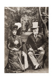 King Edward VII and Queen Alexandra, Illustration from 'King Edward and His Times' by Andre… Giclee Print by  English School
