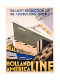 Advertisement for the Holland America Line, c.1932 Giclee Print by  Hoff