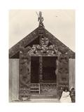 Carved Maori Whare, c.1900 Giclee Print by Robert Marsh