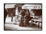 View of Women with Children Shopping at a Fruit and Vegetable Stand at 266 7th Avenue, New York,… Giclee Print by  Byron Company