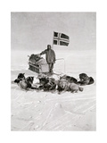 Captain Roald Amundsen at the South Pole, 1912, from 'The Year 1912', Published London, 1913 Giclee Print