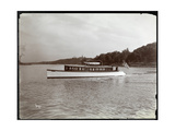 "View of the Yacht ""Delicia"" of the New York Yacht, Launch and Engine Co. on the Hudson River Near… Giclee Print by  Byron Company"