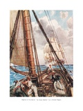 Capture of the Slaver 'La Jeune Estelle' by a British Frigate, Illustration from 'The Land of the… Giclee Print by A.D. McClintock