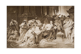 The Murder of Caesar, Illustration from 'The Outline of History' by H.G. Wells, Volume I,… Giclee Print by Carl T. von Pilotz