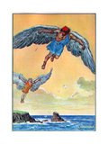 Daedalus and Icarus, from 'The Children's Hour: Stories from the Classics', Published by Waverley… Giclee Print by Charles Edmund Brock