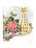 'I Saw a Great Cat All Covered in Spots', Illustration from 'The Mischievious Mousie Book',… Gicleetryck av Anne Anderson