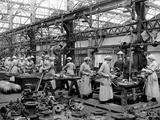 Women Working in a Factory Photographic Print by  English Photographer