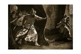 Revolt of the Royal Guard at Damascus Giclee Print by John Harris Valda