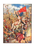 Richard the Lionheart at the Crusades, Illustration from 'A History of England' by Rudyard… Giclee Print by Henry Justice Ford