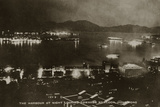 The Harbour at Night Looking Towards Kowloon, Hong Kong, from an Album of Photographs Relating to… Photographic Print by  English School
