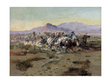 The Attack Giclée-tryk af Charles Marion Russell
