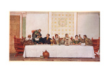 The Wedding Feast, Illustration from 'The Merchant of Venice', c.1910 Giclee Print by Sir James Dromgole Linton