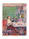 Interior Scene, Possibly in Norway, c.1912 Giclee Print by Harold Gilman