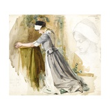 Woman at Prayer, c.1917 Giclee Print by  English School