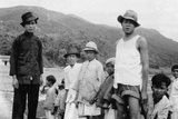 Group of Men in Hong Kong Photographic Print by  English Photographer