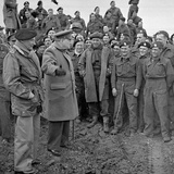Sir Winston Churchill and Field Marshall Bernard Montgomery Visiting Men of the 79th Armoured… Photographic Print by  English Photographer