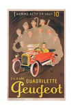 Advertisement for Peugeot, c.1910 Giclee Print by  Mich