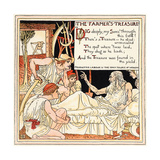 The Farmer's Treasure, Illustration from 'Baby's Own Aesop', Engraved and P Giclee Print by Walter Crane