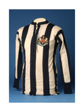 Newcastle United Jersey from the 1911 FA World Cup Final, 1911 Giclee Print by  English School