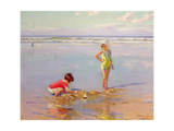 Children on the Beach Giclee Print by Charles-Garabed Atamian