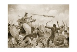 A Roman Battle with the Volscians Giclee Print by John Harris Valda