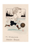 Bert Middlemiss, Tottenham Hotspur, Drawing for a Set of Cigarette Cards, 1907 Giclee Print by  Rip
