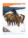 Shetland Ponies, Illustration from 'The New Natural History', by John Arthu Giclee Print by Warwick Reynolds