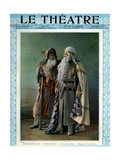 Jean Mounet-Sully and Paul Mounet as Job and Magnus, Front Cover of 'Le Theatre' Magazine, 1902 Giclee Print by  Mairet